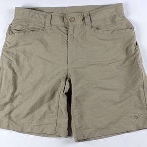 The North Face Outdoor Hiking Shorts Tan Size 34